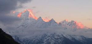 Lawudo Nepal Mountains Sunset